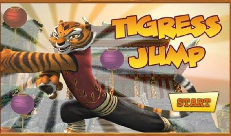 بازی پاندا کنگفو کار :تایگر پرنده  kung fu panda word tigress jump