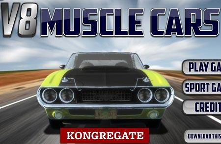 بازی مسابقه ماشین آنلاین : ماسبقه ماشین های کلاسیک V8 muscle cars