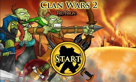 بازی دفاع از قلعه جدیدی و متفاوت:جنگ قبیله ها clan wars 2 red bigin