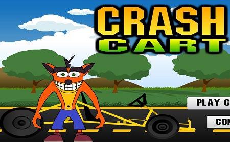 بازی مسلابقه کارتینگ کراش بندیکوت crash cart