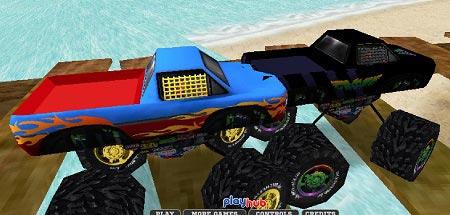 بازی مسابقه ماشین های بزرگ 3 بعدی monster race 3D