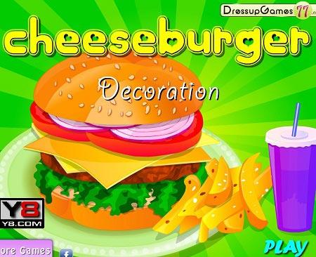 بازی تزیین ساندویچ چیز برگر  cheesburger decoration