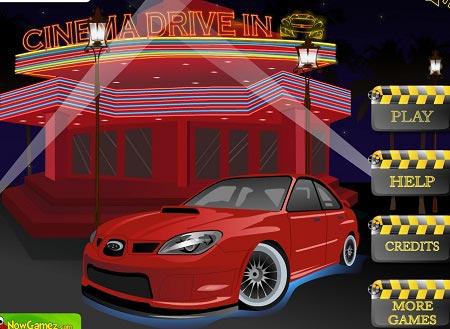 بازی مرحله ای پارک ماشین در سینما cinema drive in parking