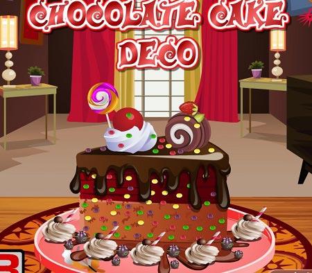 بازی تزیین کیک شکلات chocolate cake deco