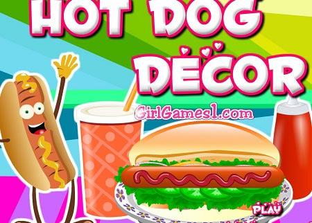 بازی دخترانه دکوراسیون : تزیین هات داگ hot dog decor