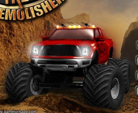 بازی ماشین کامیون هیولا  monster truck demolisher