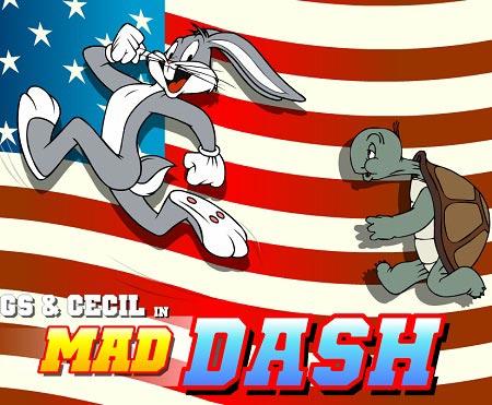 دانلود بازی سرگرم کننده مسابقه دو باگز بانی و لاک پشت Bugs Bunny and Cecil in Mad Dash
