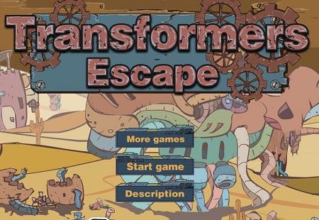 دانلود بازی مرحله ای آنلاین فرار تبدیل شوندگان transformers escape