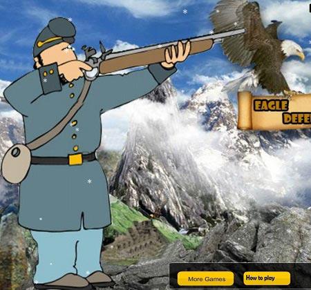 دانلود بازی آنلاین متفاوت دفاع از عقاب eagle deffender