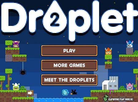 دانلود بازی ساده و کم حجم و سرگرم کننده droplet و آنلاین