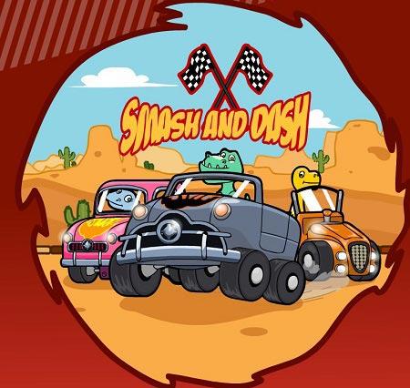 دانلود بازی مسابقه ماشین دایناسورها برای کودکان آنلاین smash and dash