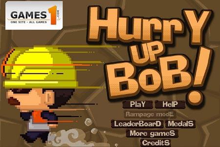 دانلود بازی سرگرم کننده عجله کن باب hurry up bob آنلاین