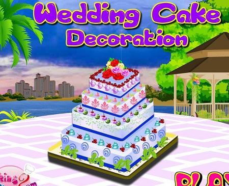 دانلود بازی دخترانه تزیین کیک عروسی wedding cake decoration آنلاین