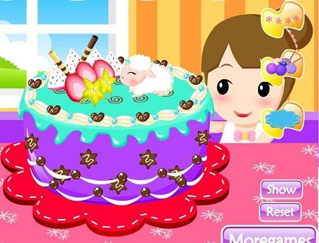دانلود بازی دخترانه کودکان جدید تزیین کیک میوه ای آنلاین