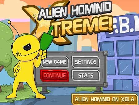 دانلود بازی متفاوت تریم انسان بیگانه alien hominid treme