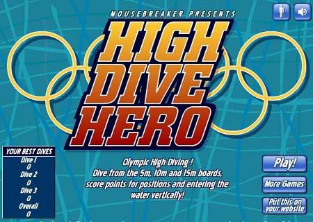دانلود بازی مسابقات المپیک مسابقه شیرجه آنلاین High Dive Hero