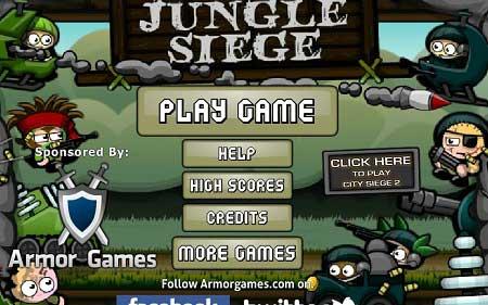 دانلود بازی سرگرم کننده و متفاوت jungle siege آنلاین