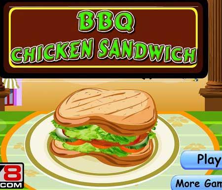 دانلود بازی آشپزی ساندویچ مرغ chicken sandwitch آنلاین