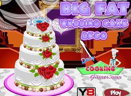بازی تزیین کیکی عروسی بزرگ Big Fat weeding Cake آنلاین
