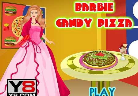 دانلود بازی درست کردن غذا توسط باربی Barbie Candy Pizza آنلاین