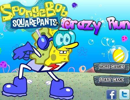 دانلود بازی کودکان دو باب اسفنجی SpongeBon Crazy run آنلاین