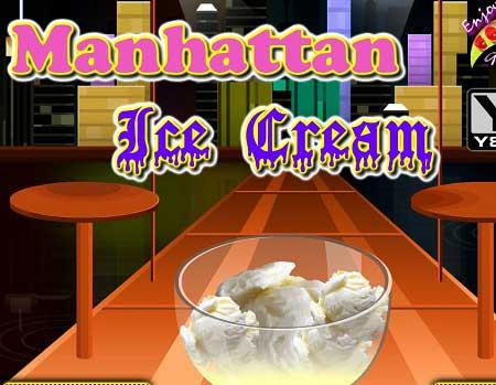 دانلود بازی دخترانه  آنلاین درست کردن بستی در منهتن Manhattan Ice Cream