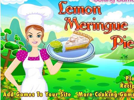 دانلود بازی دخترانه کیک لیمو lemon meringue pie آنلاین
