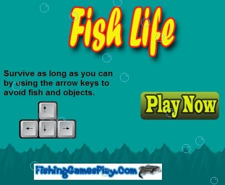 بازی ساده زندگی ماهی ها  آنلاین fish life