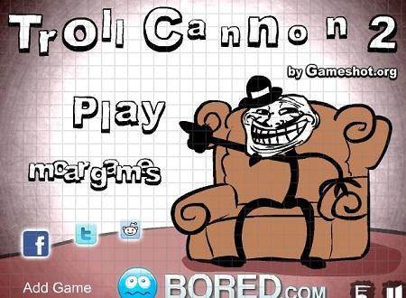 دانلود بازی خنده دار ترول ها troll cannon 2 آنلاین
