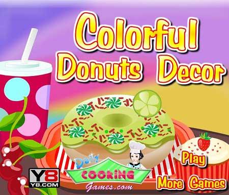 دانلود بازی دخترانه تزیین کیک دونات رنگارنگ colorful donuts decor