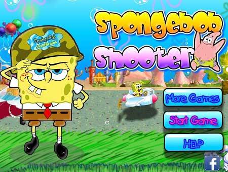 دانلود بازی کارتونی باب اسفنجی Spongebob shooter آنلاین