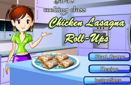 بازی کلاس آشپزی سارا Chicken Lasagna Roll-Ups