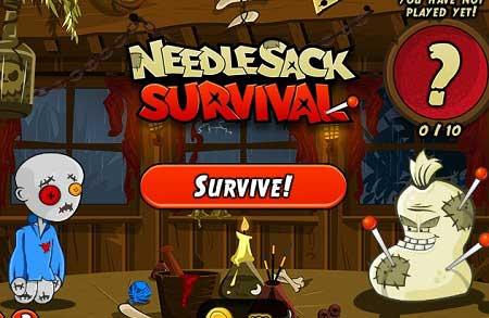 دانلود بازی پازل رقابت با زامبی آنلاین needlesack survival