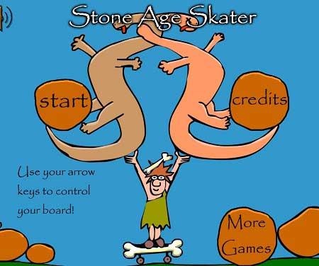 دانلود بازی اسکیت باز در عصر حجر stone age skater آنلاین
