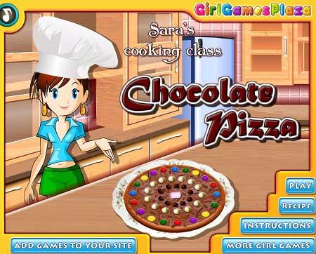 دانلود بازی کلاس آشپزی سارا پیتزا شکلاتی chocolate pizza