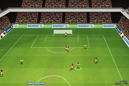 بازی فلش فوتبال سه بعدي آنلاين
