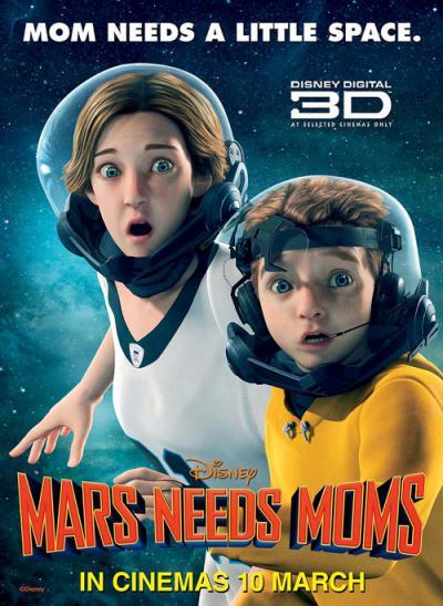 دانلود رایگان کارتون انیمیشن مریخی ها مامان میخوان Mars Needs Moms با لینک مستقیم