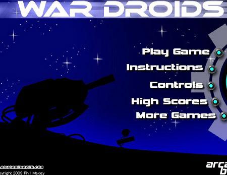 دانلود بازی استراتژیک و دفاع از قلعه war droids