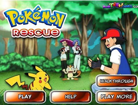 بازی ساده و دوست داشتنی برای کودکان Pokemon rescue