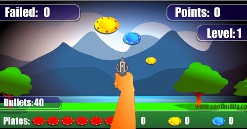 دانلود بازی آنلاین تیر اندازی با هفتیر به بشقاب پرنده