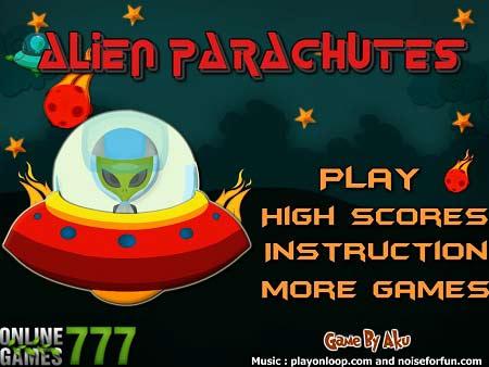 بازی آنلاین سرگرم کننده ودوست داشتنی چترنجات بیگانگان alien parachute با دانلود