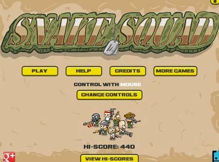 بازی مرحله ای متفاوت و اعتیاد آور جوخه مار snake squad با دانلود