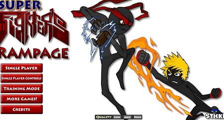 بازی آنلاین کمبت آدمک ها stickpage super fighter rampage