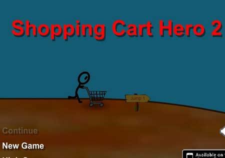 بازی آنلاین حرکات نمایشی با سبد خرید Shopping Cart Hero 2 با دانلود