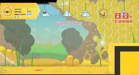 دانلود بازی آنلاین وبامزه وسرگرم کننده زنبورهای عسل خشمگین angry bees