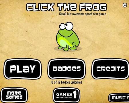 دانلود بازی آنلاین کلیک قورباغه ها click the frog