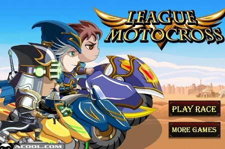 دانلود بازی آنلاین کارتونی لیگ موتور کراس league motocross