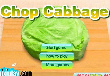 دانلود بازی آشپزی کم ریز chop cabbage آنلاین