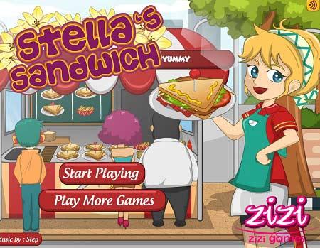 دانلود بازی آنلاین مدیریت ساندویچی اسنلا Stella sandwich آنلاین