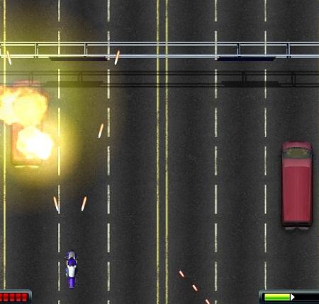 بازی فلش آنلاین موتور جنگی مرحله ای-Moto Rush